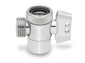 Solid Brass, Chrome Plated Diverter Valve Includes Long Lasting And Reliable Ball Valve
