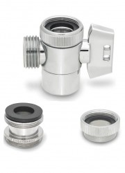 "Faucet Diverter Valve -1/2"" Hose Threads"