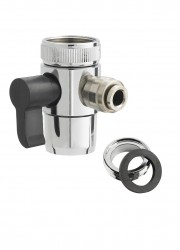 Faucet Diverter Valve w/ Push-In Fitting for Polymer Hose
